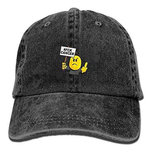 (Kotdeqay Yellow Fuck Cancer Unisex Funny Adjustable Baseball Cap Papa Hut 32543)
