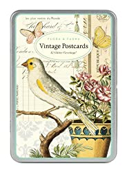 Cavallini Papers 12 Assorted Flora and Fauna Glitter Greetings