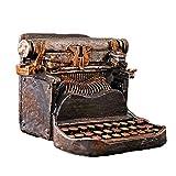 FayooChristmas Retro Vintage máquina de Escribir Piggy Bank Creativo Resina decoración Muebles Ventana Tiro apoyos Americano nostálgico decoración Suave
