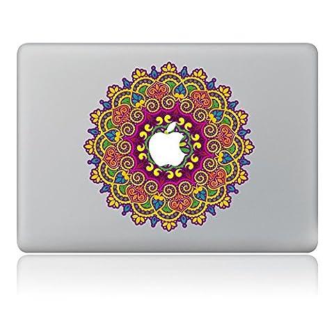 """MacBook Aufkleber, Chickwin Creative Pattern dekorativ Film Notebook Sticker Skin personalisierte Aufkleber MacBook Pro Air 13"""" Decal (runde Blumen)"""