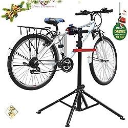 amzdeal Soporte Caballete de reparación de Bicicletas Soporte de Reparar Bici Altura Ajustable115cm-170cm, Soporte para Reparar Bicicleta Girando hasta 360 versión