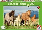 Schmidt Spiele 56199 Pferdefamilie Puzzles, 200 Teile