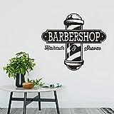 Hxfhxf Autocollant En Vinyle Des Coupes Et Des Rasages Sticker Coiffeur Cadeau Barbershop Logo Fenêtre Murale Murale De Cheveux Salon Décor Wall Art 57 * 50Cm