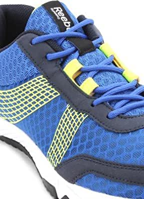 Reebok Men's Tempo Speed Lp Blue, White and Yellow Mesh Running Shoes  - 7 UK