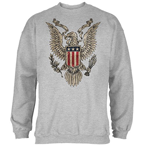 4. Juli geboren kostenlos Vintage American Bald Eagle mens Sweatshirt Heather X-LG (Outerwear American Eagle)
