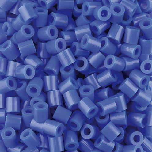 Fuse Beads, 5x5 mm, dark blue, medium, 1100 pc