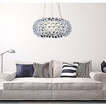 VINGOR 18W Acryl Kronleuchter Modern Wohnzimmer Hngeleuchte Leuchter Deckenleuchte Wohnzimmerlampe Sparsame Dauerbeleuchtung NEST Einstellbar 3in1