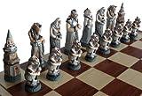 ChessEbook Exclusives Schachspiel FANTASY, 58 x 58 cm Handbemalt Marmor