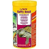 sera raffy Royal Leckerbissen bzw. Futter aus naturbelassenen Anchovies (50 %) und Garnelen (50 %), d.h. schonend getrocknete Fische für Wasserschildkröten & auch für große räuberische Zierfische