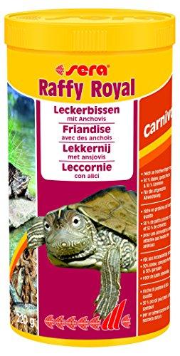 Sera 01736 raffy Royal 1000 ml der Leckerbissen aus naturbelassenen, schonend getrockneten Fischen (50%) und Garnelen (50%) für Wasserschildkröten sowie große räuberische Zierfische (Schildkröte Trockenfutter)