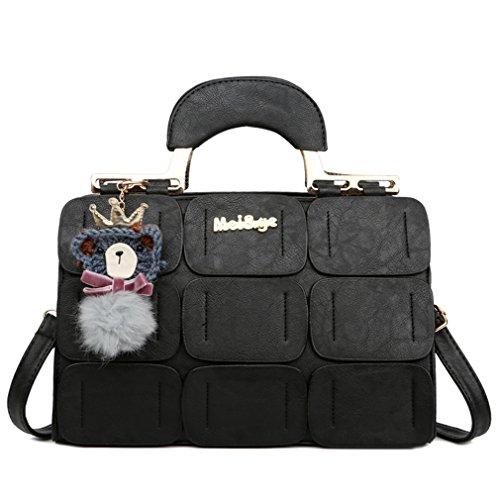 Pahajim 2017 neuer Frühling und Sommer neues Material Boston Handtasche leather handbags (Handtaschen Designer)