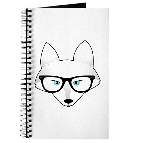 CafePress-niedliche Arctic Fox mit Gläser-Spiralbindung Tagebuch Notebook, persönliches Tagebuch, Dot Grid