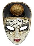 Máscara veneciana completa Volto Pierrot para hombres y mujeres