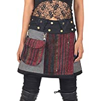 e77c81d2ecd6 Wicked Dragon Wool and Silk gheri wrap Skirt