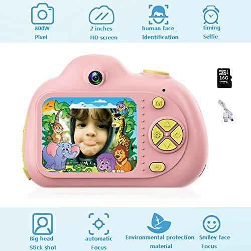 "MRYML Doppellinse Kinder HD Digitalkamera, 8 Megapixel 2"" LCD wiederaufladbare Digitale Videokamera Kidskamera(1x16G Speicherkarte)"