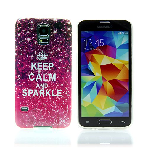 "Handy Lux® Schutz Hülle Etui Silikon TPU Case Cover Design Motiv für Apple iPhone 7 (4,7"") - Gameboy Nintendo Keep Calm and Sparkle"