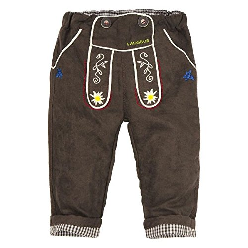 BONDI Kunstlederhose ´Lausbub´, braun 86 Tracht Baby Jungs Artikel-Nr.91012