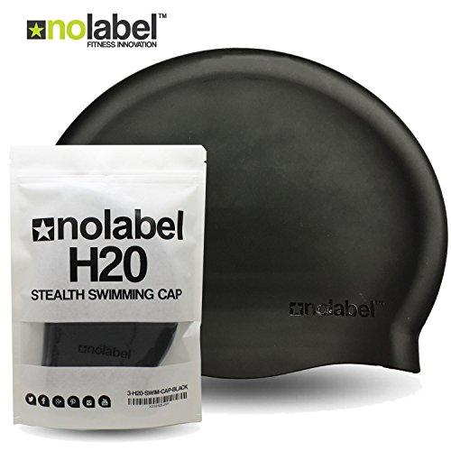 No Label Badekappe Flat Silcone H20 Professionelle Badekappe aus reißfestem Silikon | Latexfreie Badekappe | Wettbewerb Erwachsene Herren oder Damen (3 x Badekappe) -