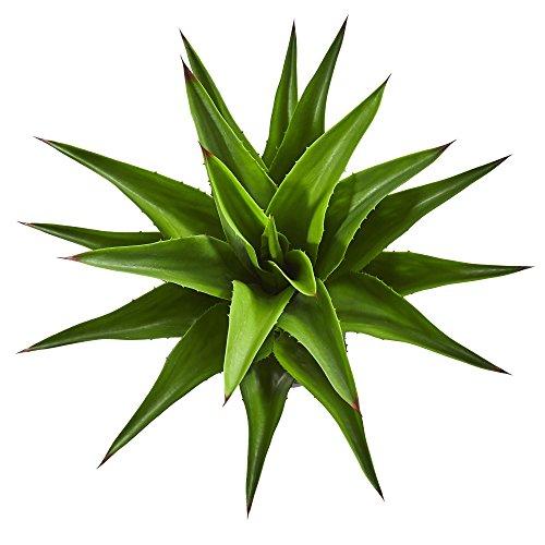 "Nearly Natural 30"" Agave Artificial Plant künstliche Pflanze, Plastik, grün"