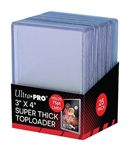 Ultra Pro Accessorie's Toploaders Superdick 7,6 x 10,2 cm, transparent, 25 Stück