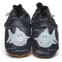 Suaves Zapatos De Cuero Del Bebé Tiburón 4-5 años