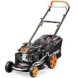 FUXTEC FX-RM1850ECO Schwarz/Orange Benzin-Rasenmäher