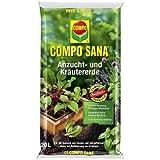 COMPO GmbH 20 Liter Compo Sana Anzucht- und Kräutererde Jungpflanzen Aussaaten Kräuter, Grundpreis: € 0,58 / L