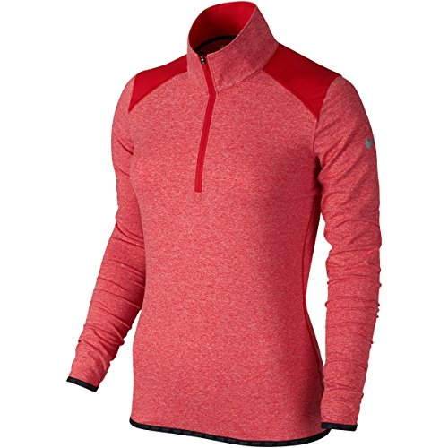 Nike Lucky 1/Azalea 2-zip 2.5Damen Langarm T-Shirt S rot (Nike 1 2 Zip)