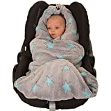 Hoppediz - Manta polar para bebé, para uso en asiento infantil