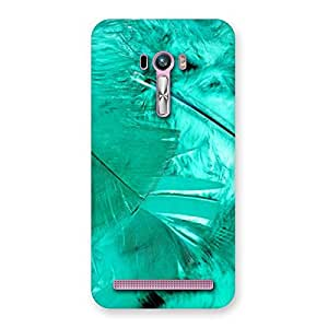 Stylish Feather Cyan Back Case Cover for Zenfone Selfie