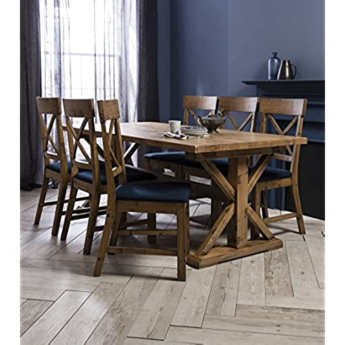 Faversham Dining Table With 6 Chairs Solid Pine Noa Nani