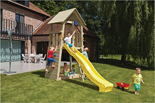 Spielturm Belvedere - Blue Rabbit 2.0 - Podesthöhe 150cm mit Rutsche 300 cm Pfosten 9x9cm