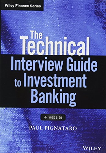 The Technical Interview Guide to Investment Banking: Website (Wiley Finance)