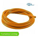 1 Meter Orange Silikon Unterdruckschlauch / Turbo Gummischlauch Luft-Wasser-Leitung [ 8mm ]