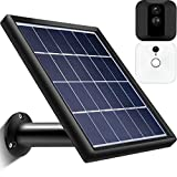 Solar Panel Compatible with Blink Indoor Outdoor XT Security Camera, Waterproof Continuously Power, Adjustable Mount, 12ft/ 3.6 m Cable (Cam Not Included) (Black)