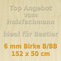 GP 23,56 /€ pro m/² PiHaMi/® 10 mm Birke Sperrholzplatte Qualit/ät B//BB 50 x 50cm