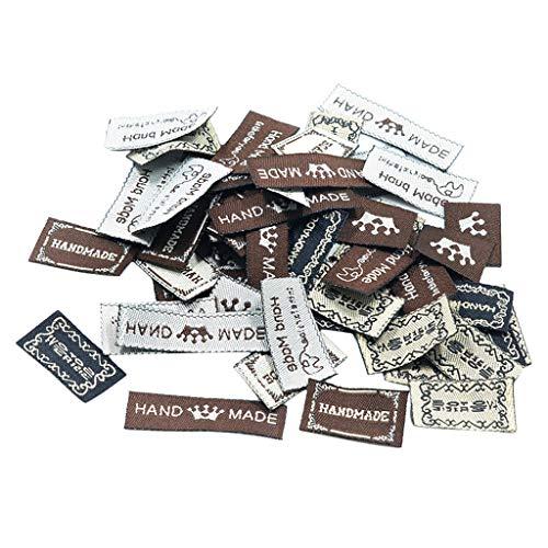 non-brand Sharplace 50 Stück Gemischt DIY Handmade Etiketten Webetiketten Einnähetiketten Textiletiketten Kleideretiketten (Nähen Sie Aus Von Etiketten)