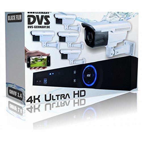 Dvs-Alemania--4-K-profesional-de-berwachungsanlage-Recorder-con-5-x-UHD-IP-Bullet-Cmara-H265-ONVIF-PoE--dvlbes80015
