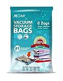 Bolsas de almacenamiento al vacío - bolsas de 8 en un paquete (4 grandes (100 x 80 cm) + 4 Medium (80 x 60 cm) Max ahorro de espacio bolsas para bebé ropa, edredones, ropa de cama, almohadas, mantas, cortinas.