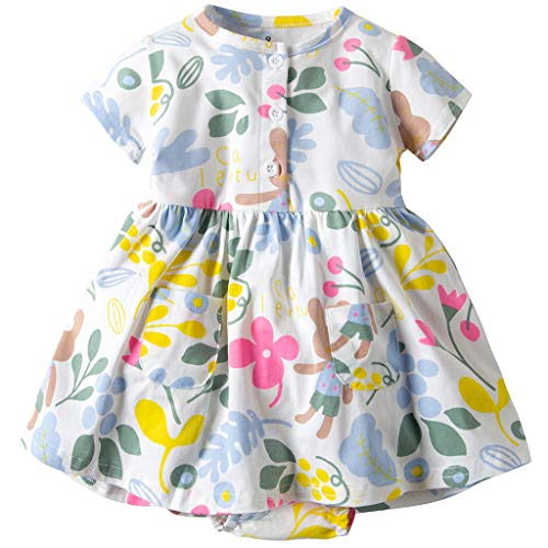 Vestido Niña Ropa Bebé Vestidos Manga Corta Princesa