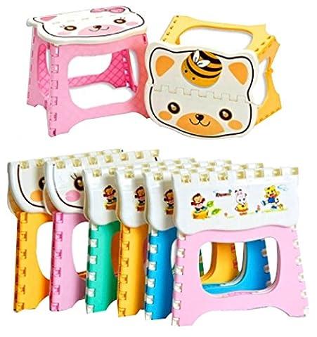 Tabouret pliant les Chaises pliantes Portable enfants couleur aléatoi extérieure