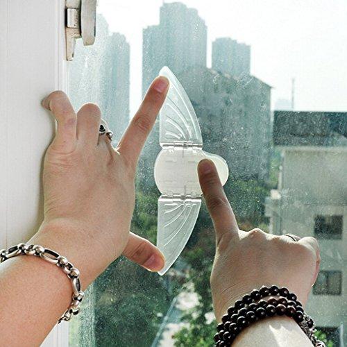 Schiebetüren Sperre Kindersicherung Fenster Schloss Schubladenstopp Schranksicherung Schiebesperre für Baby, ohne Bohren,2 Stück