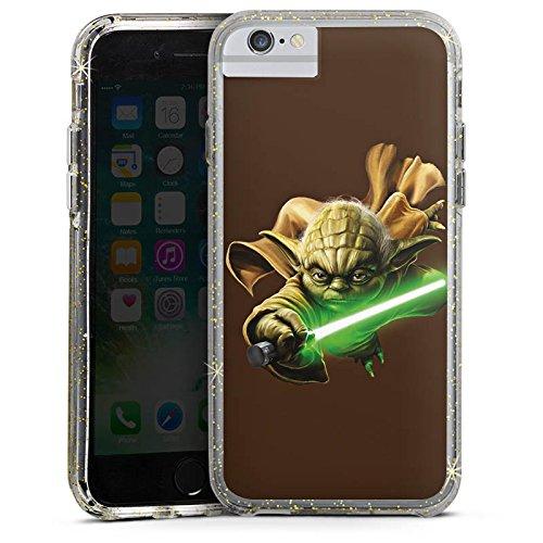 Apple iPhone X Bumper Hülle Bumper Case Glitzer Hülle Star Wars Merchandise Fanartikel Merchandising Pour Supporters Bumper Case Glitzer gold