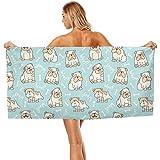 Toallas de baño de 70 x 140 cm, diseño de Bulldog francés, Multiusos,