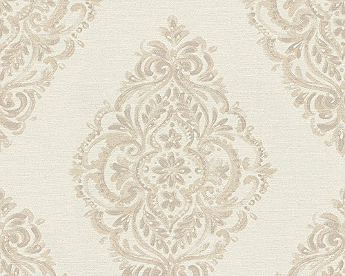 A.S. Création Vliestapete Around the world Tapete barock 10,05 m x 0,53 m beige braun Made in Germany 306952 30695-2