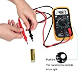 ccbetter Digital Multimeter Multi Tester Voltmeter Amperemeter Ohmmeter - AC / DC Spannung, DC Strom, Widerstand, Dioden, Transistor, Akustischer Durchgangsprüfer mit LCD Hintergrundbeleuchtung -