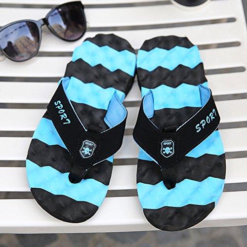 Rouge, Tongs D'été, Chaussures De Plage, Sandales. Bleu