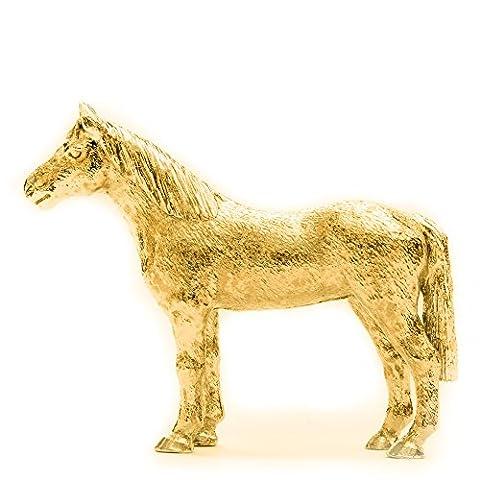 Vollblutpferd Hergestellt in U.K. Kunstvolle Tiere- Figur Sammlung (22 Karat Vergoldung / gold plattiert)
