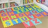 Alphanumeric Puzzle-Matten Buchstaben Puzzle Teppichmatten Kinder Game-Pad Schaumstoffkissen Rutsch Teppich lernen Gesicht zu spielen ABC Puzzle Schaumgummi Lernen 0.9cm²(36pcs)