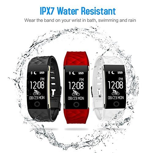 HETP Fitness Tracker HR Smart Watch With Heart Rate Monitor Activity Tracker WristbandWaterproofSensitiveTouch Screen Calorie Counter Pedometer Sleep Monitor For Android IOS